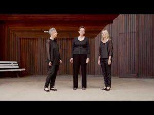 Kulturbeitrag Las Trialocas, ein trialogisches Vocalensemble bestehend aus Christina Meyn, Frideborg Meyn und Katrin Meyn